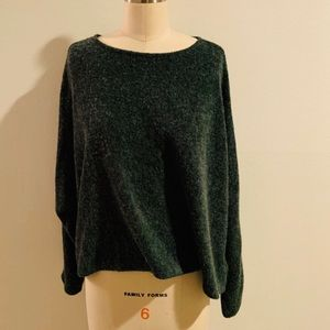 H&M Forest Green Marled Knit Sweater